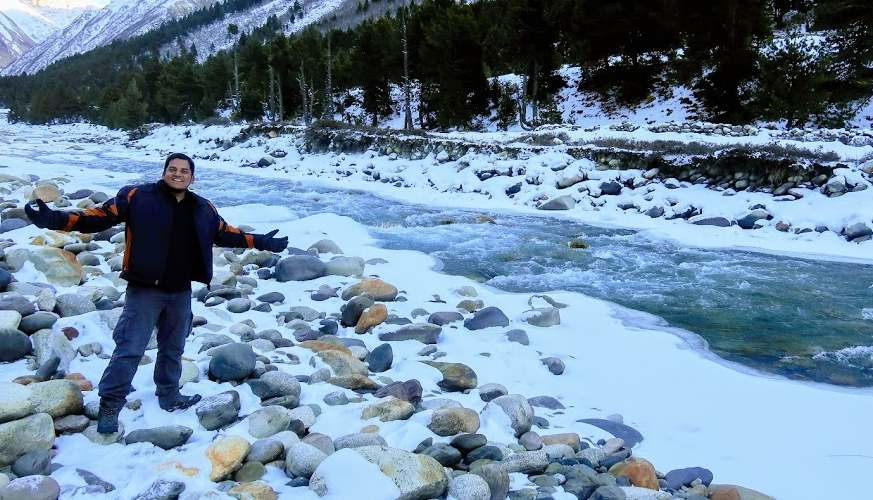 Chitkul in Winters Himachal Pradesh places for snowfall