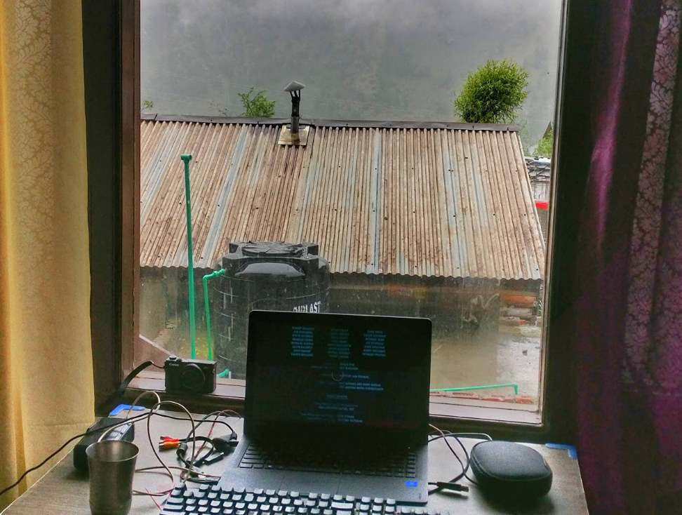 Blogging while travelling