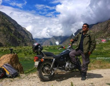 Lush green valley of Miyar Valley Bike Trip